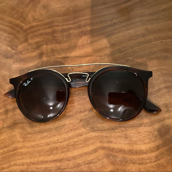 Ray Ban Polarized tortoise and gold glasses